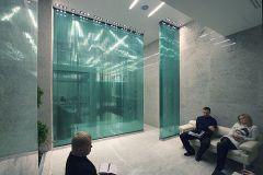 04 Стеклянные стены перегородки из клееного стекла Quasar-GlueGlass